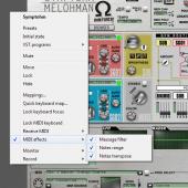 Rack Performer - MIDI effects configuration