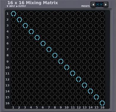 16x16 Matrix Mixer