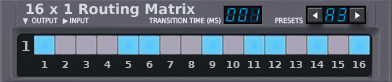 16x1 Matrix Router