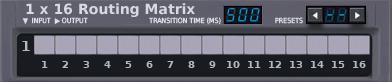 1x16 Matrix Router