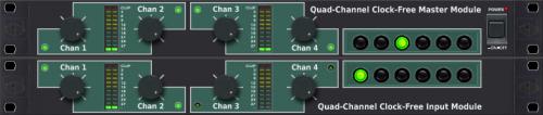 Quad-Channel Clock-Free Master Module